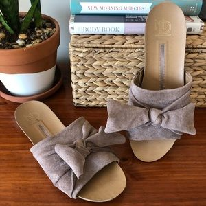 New Directions Knotted Footbed Slip-On Sandal